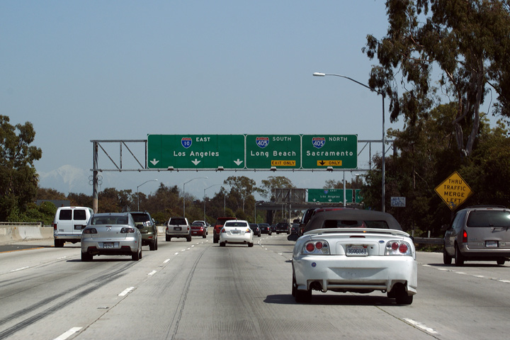 Asphaltplanet california interstate 10 as while technically interstate 10 begins in santa monica for all intents and purposes the western terminus of interstate 10 is los angeles sciox Choice Image